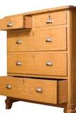 αναδρομικός ξύλινος θωρακικών συρταριών στοκ εικόνες