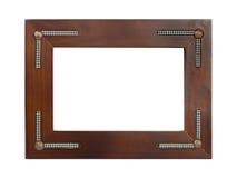 αναδρομικός ξύλινος πλαισίων στοκ φωτογραφία