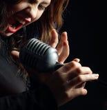 αναδρομικός τραγουδισ&t Στοκ φωτογραφία με δικαίωμα ελεύθερης χρήσης