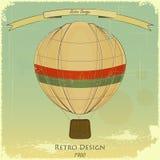 αναδρομικός τρύγος καρτών μπαλονιών απεικόνιση αποθεμάτων