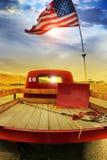 αναδρομικός τρύγος truck σημαιών στοκ εικόνες με δικαίωμα ελεύθερης χρήσης