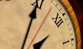 Αναδρομικός χρόνος ρολογιών που περνά τον κλασικό Στοκ Εικόνα