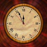 Αναδρομικός χρόνος ρολογιών που περνά τον κλασικό Στοκ Εικόνες