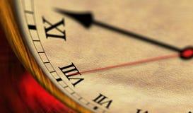 Αναδρομικός χρόνος ρολογιών που περνά τον κλασικό απεικόνιση αποθεμάτων