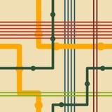 Αναδρομικό άνευ ραφής σχέδιο γραμμών Στοκ φωτογραφία με δικαίωμα ελεύθερης χρήσης