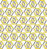 Αναδρομικό άνευ ραφής σχέδιο με hexagons Στοκ Εικόνες