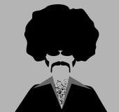 Αναδρομικό άτομο με το afro Στοκ Φωτογραφία