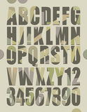Αναδρομικό αλφάβητο απεικόνιση αποθεμάτων