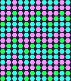 Αναδρομικό γεωμετρικό hexagon άνευ ραφής σχέδιο διανυσματική απεικόνιση