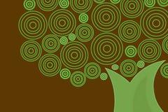 αναδρομικό δέντρο Στοκ φωτογραφία με δικαίωμα ελεύθερης χρήσης