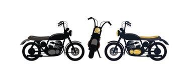 Αναδρομικό διάνυσμα σχεδίου μοτοσικλετών ελεύθερη απεικόνιση δικαιώματος
