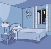 Αναδρομικό δωμάτιο ξενοδοχείου Στοκ Εικόνες
