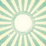 Αναδρομικό εξασθενισμένο ευρύ υπόβαθρο φωτός του ήλιου με το shabby στρογγυλό πλαίσιο για το κείμενο μπλε και πράσινο υπόβαθρο έκ ελεύθερη απεικόνιση δικαιώματος