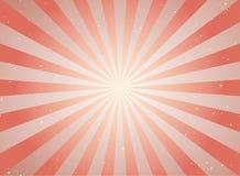 Αναδρομικό εξασθενισμένο grunge υπόβαθρο φωτός του ήλιου κόκκινο και μπεζ υπόβαθρο έκρηξης χρώματος Στοκ Φωτογραφία