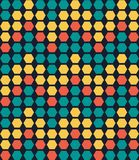 Αναδρομικό ζωηρόχρωμο γεωμετρικό hexagon άνευ ραφής σχέδιο διανυσματική απεικόνιση