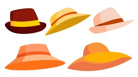Αναδρομικό καθορισμένο διάνυσμα καπέλων αδελφών Κλασικό παραδοσιακό καπέλο για τον άνδρα, κομψή γυναίκα Επικεφαλής μόδα υφασμάτων ελεύθερη απεικόνιση δικαιώματος