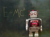 Αναδρομικό κόκκινο ρομπότ techer Στοκ Εικόνες