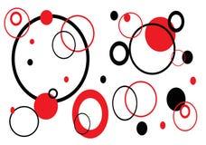 αναδρομικό λευκό κύκλων Στοκ εικόνες με δικαίωμα ελεύθερης χρήσης