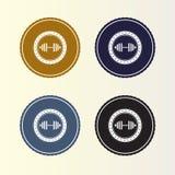 Αναδρομικό λογότυπο διακριτικών ύφους Λογότυπο κύκλων για την επιχεί απεικόνιση αποθεμάτων