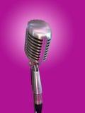 Αναδρομικό μικρόφωνο Στοκ εικόνες με δικαίωμα ελεύθερης χρήσης