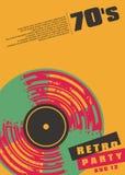 Αναδρομικό μουσικής σχέδιο αφισών κομμάτων εννοιολογικό ελεύθερη απεικόνιση δικαιώματος