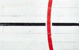 Αναδρομικό πάτωμα γήπεδο μπάσκετ Στοκ Φωτογραφία