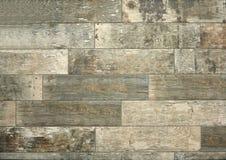 Αναδρομικό πάτωμα κεραμικών ύφους με την ξεπερασμένη και φορεμένη ξύλινη επίδραση στοκ εικόνα με δικαίωμα ελεύθερης χρήσης