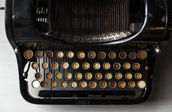 Αναδρομικό παλαιό ύφος μηχανών γραφομηχανών Στοκ Φωτογραφία