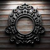 Αναδρομικό πλαίσιο στον ξύλινο τοίχο Στοκ φωτογραφία με δικαίωμα ελεύθερης χρήσης