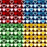 Αναδρομικό πρότυπο καρδιών Στοκ Φωτογραφίες