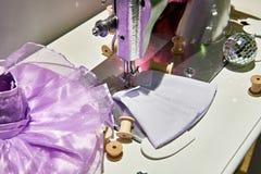 αναδρομικό ράψιμο μηχανών Στοκ Εικόνα