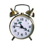 Αναδρομικό ρολόι συναγερμών που απομονώνεται Στοκ Εικόνες