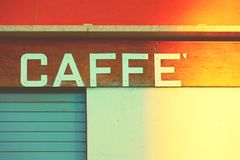 Αναδρομικό σημάδι ενός καφέ στη Βενετία Στοκ Εικόνες