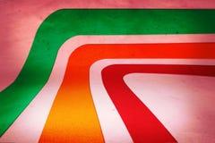 αναδρομικό στάδιο ανασκό&pi Στοκ Φωτογραφίες
