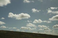 Αναδρομικό σύνολο ουρανού ύφους των σύννεφων Στοκ Φωτογραφία