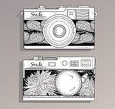 αναδρομικό σύνολο φωτογραφιών φωτογραφικών μηχανών απεικόνιση αποθεμάτων