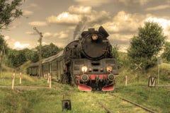 αναδρομικό τραίνο ατμού Στοκ Φωτογραφίες