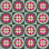 Αναδρομικό floral πρότυπο κεραμιδιών Στοκ Φωτογραφίες