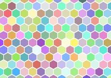 Αναδρομικό hexagon υπόβαθρο κυψελωτών σχεδίων Colorfuls Στοκ φωτογραφίες με δικαίωμα ελεύθερης χρήσης