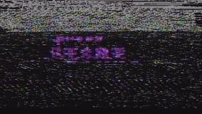Αναδρομικό videogame κείμενο έναρξης Τύπου στην παλαιά οθόνη παρέμβασης δυσλειτουργίας TV Νέα ποιοτική καθολική εκλεκτής ποιότητα απόθεμα βίντεο
