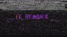 Αναδρομικό videogame παίρνει το έτοιμο κείμενο στην παλαιά οθόνη παρέμβασης δυσλειτουργίας TV Νέα ποιοτική καθολική εκλεκτής ποιό απόθεμα βίντεο