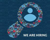 Αναζήτηση εργασίας και σταδιοδρομία των κοινωνικών εικονιδίων μέσων ελεύθερη απεικόνιση δικαιώματος