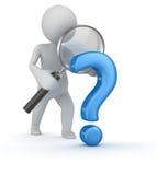 Αναζήτηση ερωτηματικών Στοκ Εικόνες