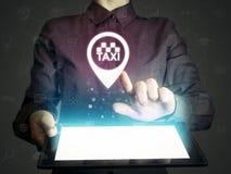 Αναζήτηση, διαταγή, και εκτίμηση των υπηρεσιών ταξί Στοκ Φωτογραφίες