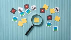 Αναζήτηση και ανάλυση αρχείων Στοκ φωτογραφία με δικαίωμα ελεύθερης χρήσης