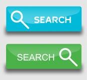 Αναζήτηση κουμπιών Ιστού Στοκ Εικόνες