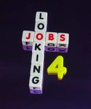 Αναζήτηση των θέσεων εργασίας Στοκ φωτογραφία με δικαίωμα ελεύθερης χρήσης