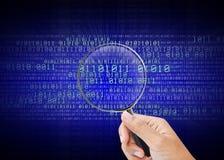 Αναζήτηση των πληροφοριών στα δίκτυα υπολογιστών Στοκ φωτογραφία με δικαίωμα ελεύθερης χρήσης