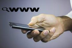 Αναζήτηση loupe πιό magnifier WWW Στοκ φωτογραφία με δικαίωμα ελεύθερης χρήσης
