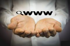 Αναζήτηση loupe πιό magnifier WWW Στοκ φωτογραφίες με δικαίωμα ελεύθερης χρήσης